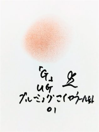 DAISO×URGLAM 9色アイシャドウ ブルーミングアイカラーパレット 01-G 色味