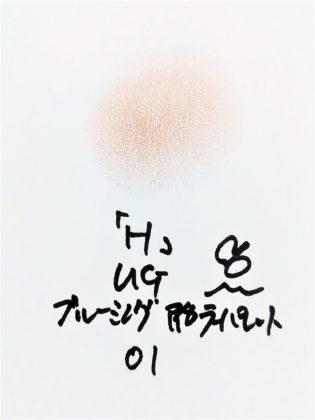 DAISO×URGLAM 9色アイシャドウ ブルーミングアイカラーパレット 01-H 色味
