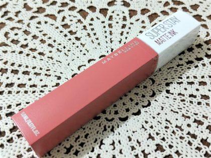 メイベリン SPステイマットインク ヌードカラー 新色 モデル使用色 130 アプリコットジャム パッケージ