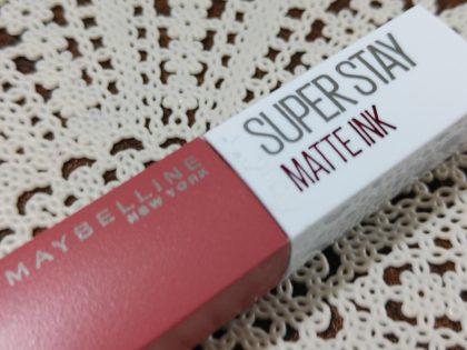 メイベリン SPステイマットインク ヌードカラー 新色 モデル使用色 130 アプリコットジャム フタストッパー