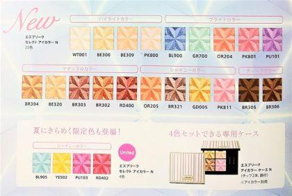 コーセー(KOSE) エスプリーク(ESPRIQUE) アイシャドウ セレクトアイカラーN 全20色+限定4色+アイカラーケースN パンフレット