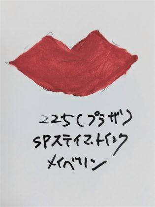 メイベリン SPステイマットインク PLAZA限定色 225 ダスティチェリー 色味(紙)