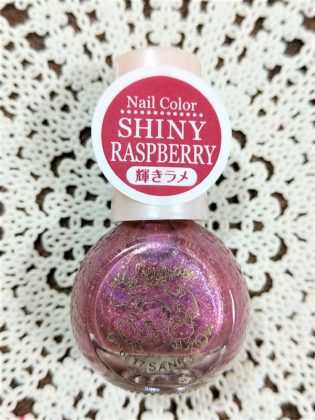 #2 SHINY RASPBERRY(シャイニー ラズベリー)輝きラメ ダイソー(DAISO)×サンリオ(Sanrio)コラボ フレンドネイル マイメロディ(My Melody)