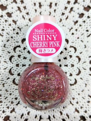 #10 SHINY CHERRY PINK(シャイニー チェリー ピンク)輝きラメ ※旧色番#28 ダイソー(DAISO)×サンリオ(Sanrio)コラボ フレンドネイル マイメロディ(My Melody)