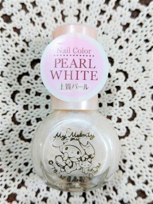 #12 PEARL WHITE(パール ホワイト)上質パール ダイソー(DAISO)×サンリオ(Sanrio)コラボ フレンドネイル マイメロディ(My Melody)