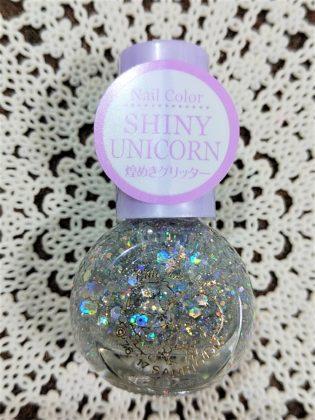 #23 SHINY UNICORN(シャイニー ユニコーン)煌めきグリッター ダイソー(DAISO)×サンリオ(Sanrio)コラボ フレンドネイル リトルツインスターズ(Little Twin Stars) キキ&ララ(Kiki&Lala)