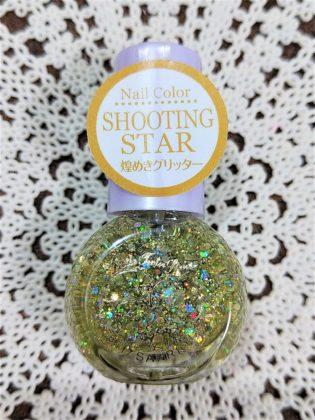 #25 SHOOTING STAR(シューティング スター)煌めきグリッター ダイソー(DAISO)×サンリオ(Sanrio)コラボ フレンドネイル リトルツインスターズ(Little Twin Stars) キキ&ララ(Kiki&Lala)