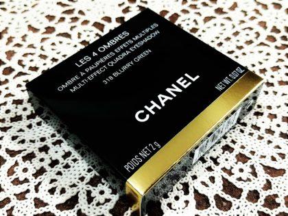 CHANEL(シャネル) 2019年夏新作 アイメークアップコレクション アイシャドウ レキャトルオンブル 318ブラーリーグリーン 箱