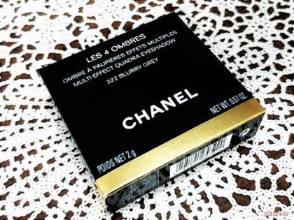 シャネル(CHANEL) 2019夏新作アイメークアップコレクション アイシャドウ レキャトルオンブル 322ブラーリーグレイ 箱