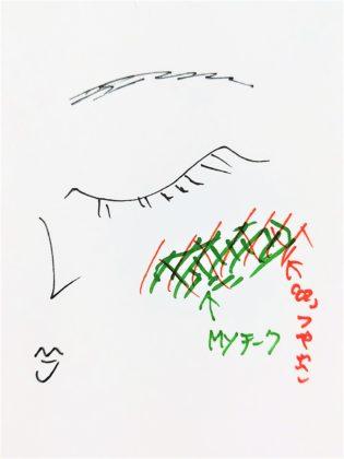 セザンヌ パールグロウハイライト 02 ロゼベージュ 使い方2