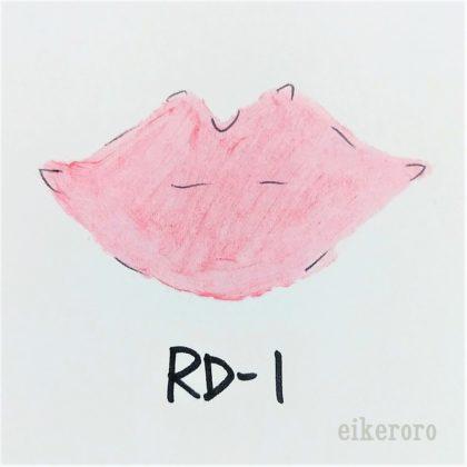 ケイト(KATE) CCパーソナルリップクリーム RD-1 スプリングレッド(ピンク系) 色味(紙)