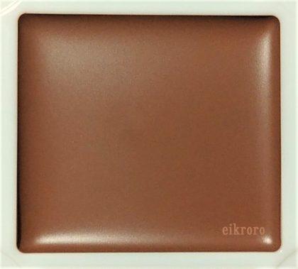 キャンメイク(CANMAKE) 8月新作 クリームシェーディング 限定色 01 ショコラブラウン 色味(パレット)