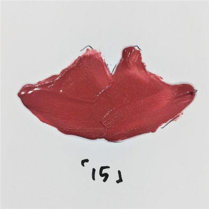 ダイソー(DAISO) マットリップ 15 ワインレッド(Wine Red) 色味(紙)