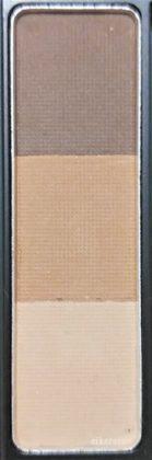 ダイソー×ユーアーグラム アイブロウパウダー 01 ライトブラウン(BR-1) 色味(パレット)