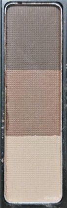 ダイソー×ユーアーグラム アイブロウパウダー 02 ナチュラルブラウン(BR-2) 色味(パレット)