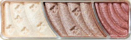 セザンヌ トーンアップアイシャドウ 07 レッドブラウン 色味(パレット)