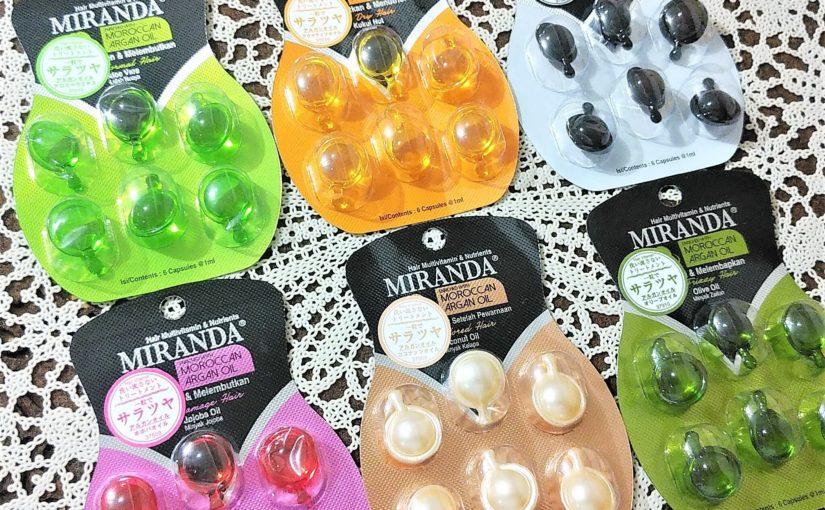 セリア&キャンドゥで人気!「ミランダ ヘアトリートメントオイル全6種」色別の効果・香り・質感・使い方♪