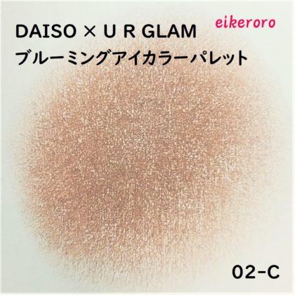 ダイソー(DAISO)×ユーアーグラム(URGLAM) 9色アイシャドウ ブルーミングアイカラーパレット 02-C 色味(紙)