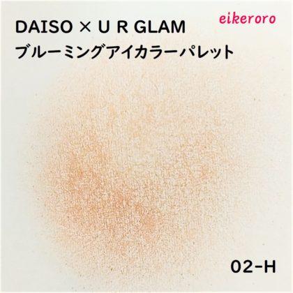 ダイソー(DAISO)×ユーアーグラム(URGLAM) 9色アイシャドウ ブルーミングアイカラーパレット 02-H 色味(紙)