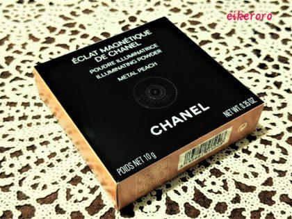 シャネル(CHANEL) 2019 ホリデーコレクション エクラ マニェティク ドゥ シャネル メタル ピーチ 外箱