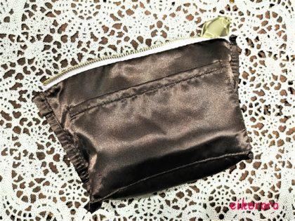 エレガンス(Elégance) クリスマスコフレ2019 モーヴフルールコフレ ポーチ 裏地 縫製 ポケット