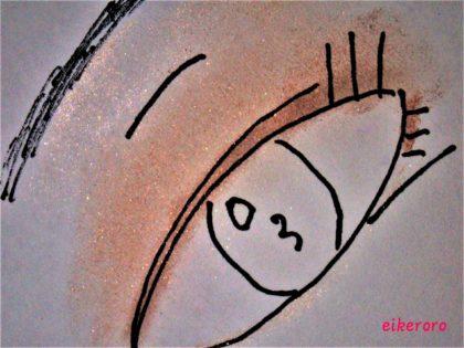 キャンメイク シルキースフレアイズ 03 レオパードブロンズ 使い方 完成イメージ ラメ感