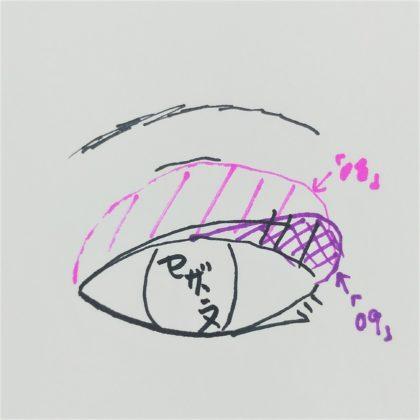 セザンヌ春新作(発売:2月14日)「シングルカラーアイシャドウ 08:ゴールドピンク 09:グレイッシュブラウン」使い方