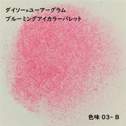 ダイソー×ユーアーグラム9色アイシャドウ「URGLAM ブルーミングアイカラーパレット 03-B」色味