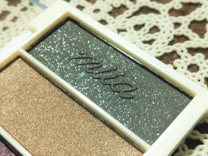 ダイソー×ミーア(miia) 6色アイシャドウ 全4種類 パッケージ・付属品 型押しロゴ