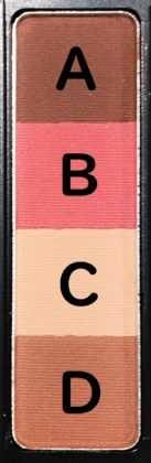 ダイソー×ユーアーグラム(URGLAM)アイブロウパウダー(4色) 01ピンクブラウン ナンバリング