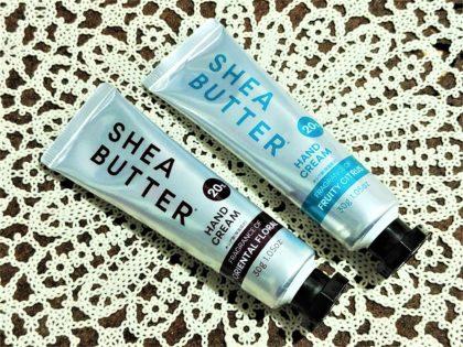 ダイソーコスメ シアバター高配合ハンドクリーム オリエンタルフローラルの香り フルーティシトラスの香り